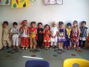 Celebrating First Festival in DPS Khanna