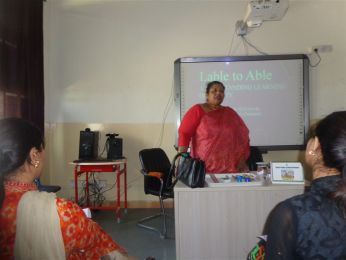 Teachers Workshop on 'Learning Disability in Students' by Mrs.Bharti Kapoor