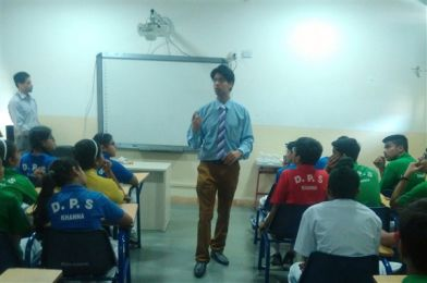 Career Counselling session was organised for Class IX students by Mr. Hitesh Tiwari