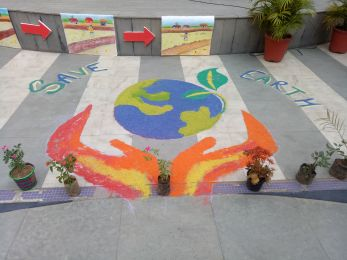 Keeping close to Nature's heart- Earth Day Assembly at DPS Khanna