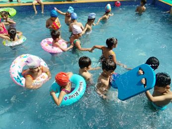 Pool party in Pre Primary