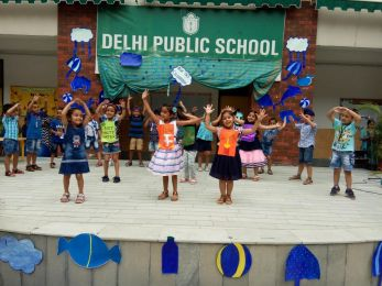 Educating the tiny tots by celebrating the Blue Colour Day